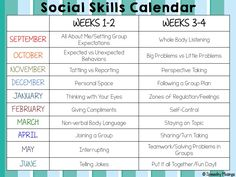 This school year, I'll be running a social skills group at my work! I wanted a basic outline of topics to hopefully target each week. I decided that most of the time, things are too difficult to ta...