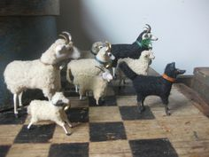Love these Putz sheep and rams. (Early Farmhouse)