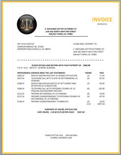 Design Billing Invoice   Google Search Within Attorney Billing Template