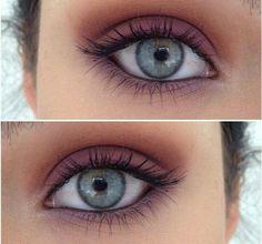 I don't like a lot of make-up fake eyelashes unless it's Halloween Gorgeous simple Blue eyes Makeup Goals, Makeup Inspo, Makeup Inspiration, Makeup Tips, All Things Beauty, Beauty Make Up, Hair Beauty, Skin Makeup, Plum Eye Makeup