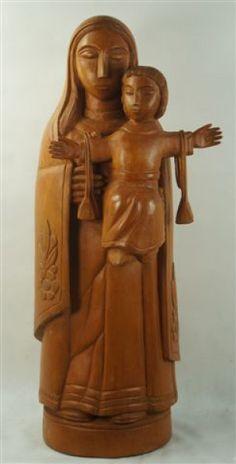 Mestre Expedito. Nossa Senhora do Carmo (2009). 100 cm