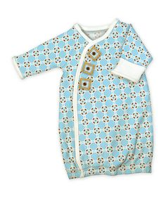 Another great find on #zulily! Blue Geometric Wrap Gown - Infant #zulilyfinds