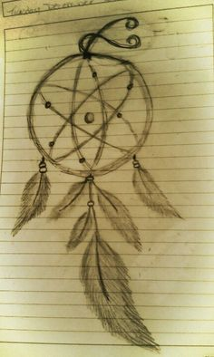 Carbon Atom Tattoo Dream catcher with carbon atom