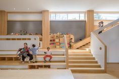 Image 20 of 22 from gallery of Lion International Kindergarten / VMDPE. Courtesy of VMDPE Kindergarten Projects, Kindergarten Design, Cooking In The Classroom, Old Fashioned House, Lions International, Daycare Design, Steam Education, Learning Spaces, Modular Design