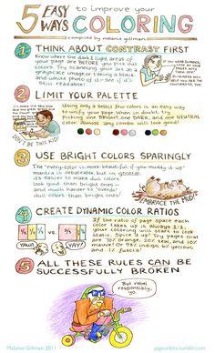 Melanie Gillman :: 5 Easy Ways to Improve Your Coloring