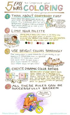 Melanie Gillman :: 5 Easy Ways to Improve Your Coloring