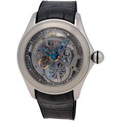 ShopWorn Watches ™ Corum Heritage Bubble Automatic, 47 mm Stainless Steel Case, Hour, Minutes, Center Seconds, Sapphire Crystal, Transparent Dial, Transparent Case Back, Corum Caliber CO082, 21 Jewel Movement, 42 Hour Power Reserve, Includes Corum Box and Papers, Includes ShopWorn 2 Year Warranty