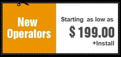 New Operators Starting as low as $199.00 + installation