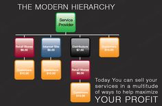 Modern Hierarchy – Business Sales Model  Service Provider, Distributors, Retail Stores & Internet, End Users (Customers) all are interrelated when comes to business.