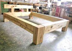 Balkenbett 140 x 200, aus birke rustikal in jona kaufen bei ricardo.ch