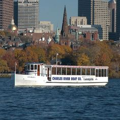 Architectural Sightseeing Cruise along the Charles River and Boston Harbor via the Charles River Locks.