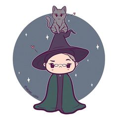 Professor McGonagall(s)! She's definitely one of my favourite characters from HP (especially in the books) • #mcgonagall #professormcgonagall #harrypotter #harrypotterart #harrypotterfanart #instaart #instadaily #instaartist #illustrationoftheday #illustration #chibi #cute #kawaii #digitalart #digitalpainting #doodle #art