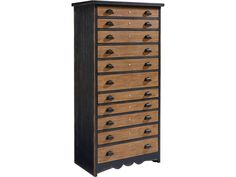 Magnolia Home by Joanna Gaines Primitive Primitive Library Chest with Two-Tone Finish - Jacksonville Furniture Mart - Drawer Chests