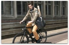 Basil | Urban Fold-Cross Body Bicycle Bag | Charcoal Black | Le Vélo, Elegant solutions for everyday cycling challenges $96.00