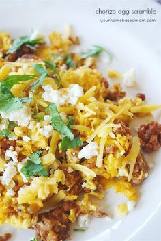 and Eggs Chorizo Egg Scramble--Christian would love this.Chorizo Egg Scramble--Christian would love this. Beef Chorizo, Chorizo And Eggs, Chorizo Recipes, Egg Recipes, Mexican Food Recipes, Healthy Recipes, Ethnic Recipes, Waffle Recipes, Healthy Breakfasts