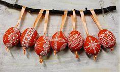 KRASLICE /slepačie maľované vajíčka/ - tmavá orange by maramanufaktura - SAShE.sk - Handmade Veľká Noc