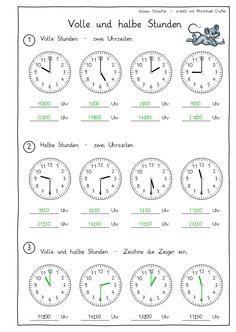 Eulenpost - Uhr - Volle und halbe Stunden
