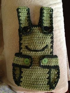 Adapted from this pattern. http://flowerscreations.blogspot.com/2012/05/free-diaper-cover-pattern.html. Added a bib and overalls