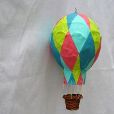 Hot Air Balloon Multicolour Diamonds by Minted Condition. $78