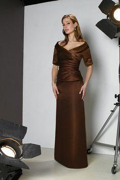 Abito mamma sposa Tubino Naturale con Increspato V-Scollo A Terra Mob  Dresses 74a4b4936dd