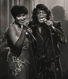Aretha Franklin & James Brown. The King & Queen of Soul.