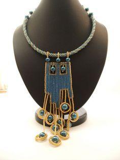 Комплект ''Urban City'' | biser.info - всё о бисере и бисерном творчестве #beadwork necklace