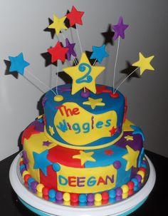 Wiggles Cake, Marble mud cake Harry Birthday, Cool Birthday Cakes, 2nd Birthday Parties, Birthday Ideas, Wiggles Birthday, Wiggles Party, Sweet Cakes, Cute Cakes, Fondant Cakes