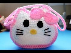 "Easy to Crochet ""Hello Kitty""  Inspired Purse  Video 1"