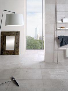Exclusieve aluminium metal vloertegels in 45x90, 60x60 en 30x60 met geoxideerde vegen en krijtachtige glans. Retro en modern gecombineerd! (19, Tegelhuys)