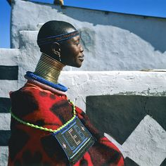 Portrait of an Ndebele woman in Mpumalanga, South Africa by Margret Courney-Clarke