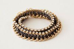 DIY Rhinestone Statement Bracelets