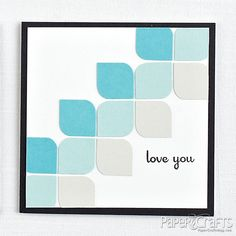 Use a corner-rounder on punched squares and then arrange them in a pattern.