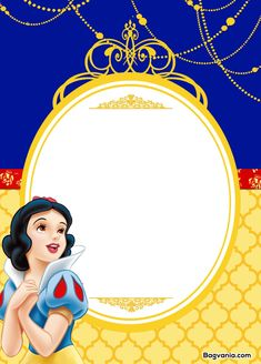 Nice Free Printable Snow White Birthday Invitations