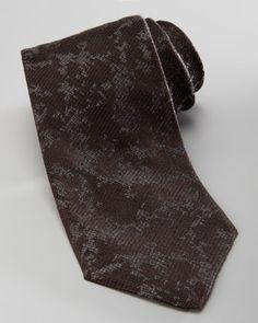 Armani Collezioni Abstract Silk Tie, Black - Neiman Marcus