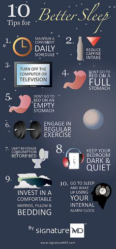 10 Tips for Better Sleep Infographic