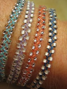 Braided Beaded Bracelets! So easy and cute!!