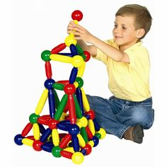 Magneatos [MN1394] - This Toy Award Winner by Oppenheim Toy Portfolio Award (Top Honor) and Oppenheim SNAP (Special Needs Adaptable Product) allows younger children and kids with poor fine motor control to experience the fun and mystery of magnetic construction! Similar to the popular sets made for older kids, Magneatos jumbo-sized pieces are