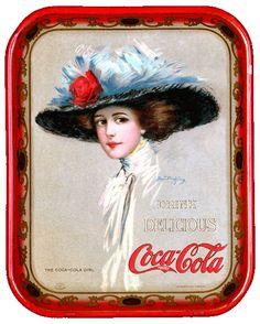 Hamilton King, illistrator for the Coca-Cola Vintage Tray collection. Coca Cola Poster, Coca Cola Ad, Always Coca Cola, Coca Cola Vintage, Coca Cola History, World Of Coca Cola, Vintage Advertisements, Vintage Ads, Sodas