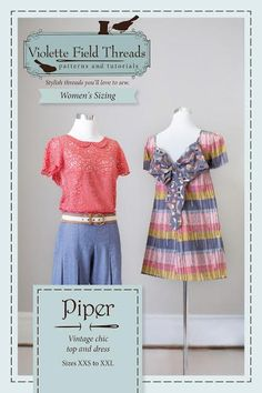 Piper Misses Dress and Blouse -- cute pattern