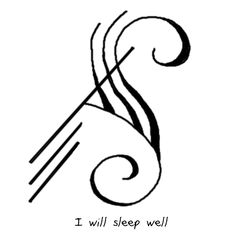 "bibliophilicwitch: ""sigilathenaeum: "" ""I will sleep well"" sigil "" @bastcatgoddess"""