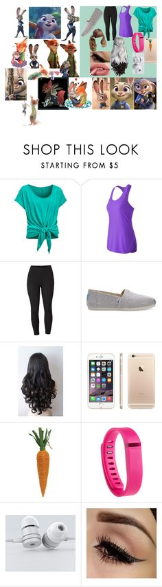 """""""Judy Hopps"""" by zootopia-marvel ❤ liked on Polyvore featuring New Balance, Venus, TOMS, Fitbit, zootopia, judyhopps and plus size clothing"""