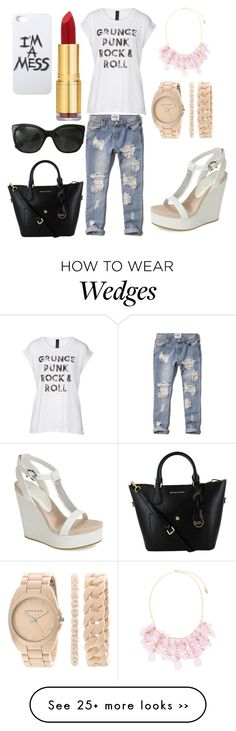 """Untitled #118"" by justpink123 on Polyvore featuring Abercrombie & Fitch, Natasha Accessories, Anne Klein, Lola Cruz, LAUREN MOSHI, Chanel and Isaac Mizrahi"