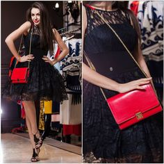 Dress Philipp Plein, bag Marc Jacobs, shoes Casadei