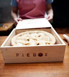 An amazing wooden pie protector from the one & only Piebox