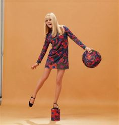 France Gall on a photo shoot