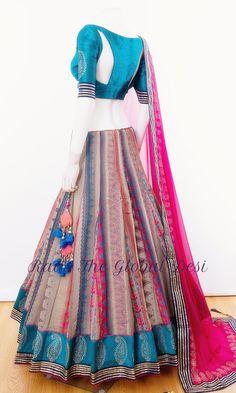 Indian Gowns Dresses, Indian Fashion Dresses, Dress Indian Style, Indian Designer Outfits, Fashion Outfits, Teen Fashion, Evening Dresses, Half Saree Designs, Choli Designs