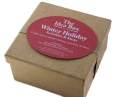 Great idea for the holiday season:  A little box full of 60 Winter Holiday Activities & Ideas!