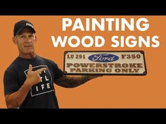 How to PAINT a Wood Sign Quick & Easy Artist Brush, How To Make Paint, Painting Tips, Wooden Signs, The Creator, Easy, Wooden Plaques, Wood Signs