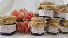 Baby Shower Honey Favors  Gingham with Toppers  by InNonnasKitchen, $84.00