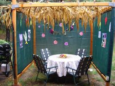 Day 262 - during the holiday of Sukkot, which started last night, Jewish people build a temporary house to dwell in